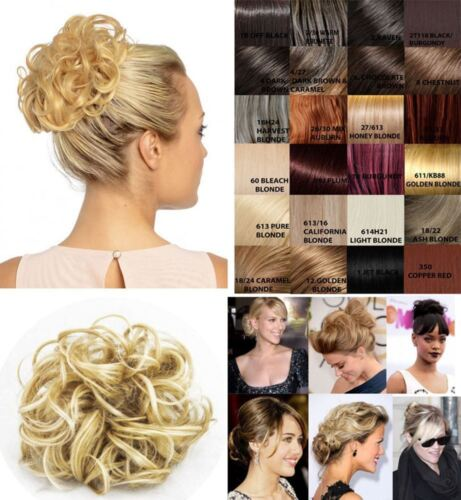 Koko P4 Synthetic Hair Scrunchie All Colour Shades Scrunchies Large Updo Piece