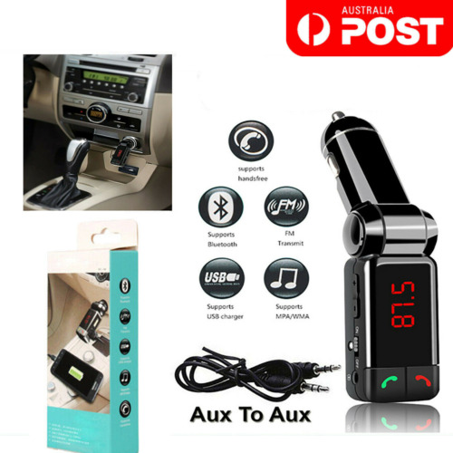Bluetooth FM Transmitter Car Kit Mp3 Player USB Car Charger iPhone Samsung OPPO