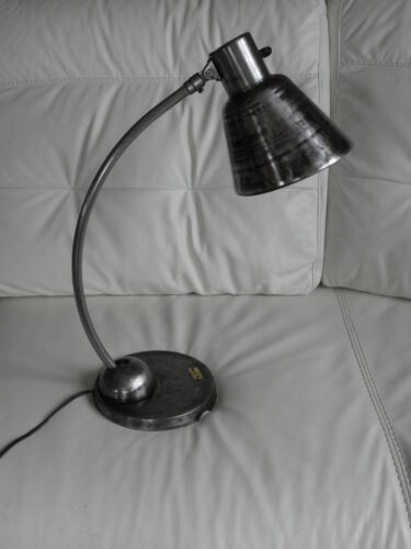 antique lamp desk schaco LIGHT Machine age Industrial factory bauhaus vintage