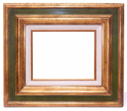 Gold Gilded Wood Regency Frame Mid Century Signed Mexico for 8x10 picture