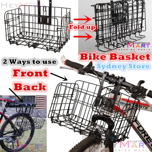 New Foldable Bicycle Quick Release Front Bike Basket for Extra Storage Baskets
