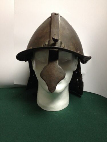 FANTASTIC Antique 17th Century English / Northern Europe Lobster Tail Helmet