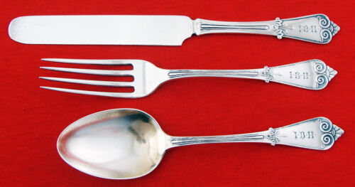 Tiffany TIFFANY (BEEKMAN) Sterling Silver YOUTH SET 3PC w/KNOBS