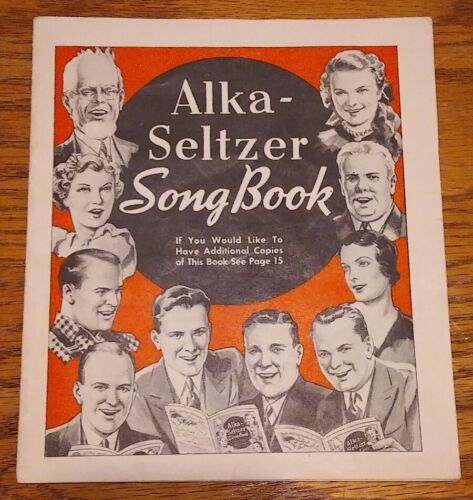 Vintage Alka Seltzer Song Book 1937 Great Ads Songs Clementine Nelly Gray