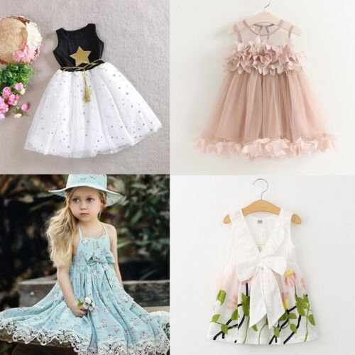 Flower Girl Summer Princess Dress Kid Party Wedding Pageant Prom Dresses Clothes