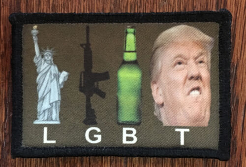 LGBT Donald Trump Morale Patch Funny Tactical ARMY Hook Military USA Badge Flag Other Current Military Patches - 36070