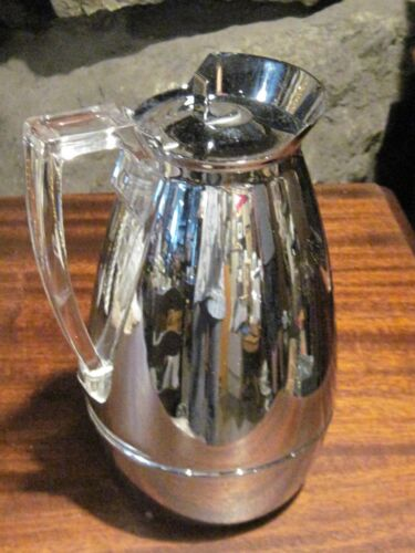 Mid Century lucite handle American Thermos Co coffee water pitcher