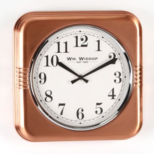 Widdop Stylish Copper Coloured-Square-Wall clock