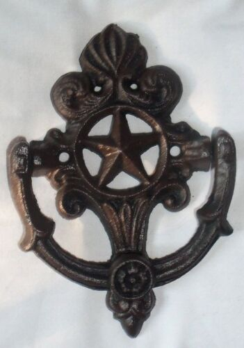 Cast Iron STAR OF TEXAS Door Knocker Rustic Western Decor Country French GOTHIC