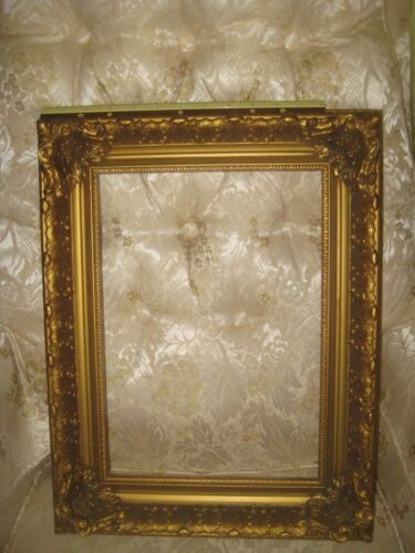 antique hand carved gold wood ornate victorian picture mirror frame 10 X 14