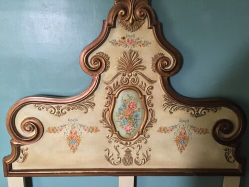 Vintage French Provincial Style Ornate Wood  HEADBOARD. Queen