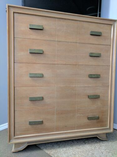Blonde Chest of Drawers, (Dresser) , 5 drawers, Mid-Century
