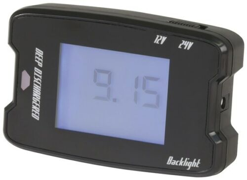 POWERTECH Intelligent 12V/24V Battery Tester w/LCD Panel for Vehicles and Boats