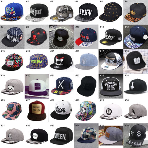 Unisex Men Women Snapback Adjustable Baseball Cap Hip-Hop Hat Cool Bboy Hats u+