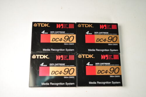 4 TDK DC4-90 4mm DDS Data Cartridges New Sealed