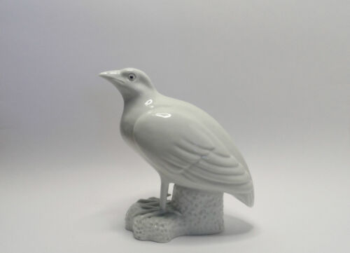 Antique Meiji Period Japanese Hirado Porcelain Okimono Bird Figure