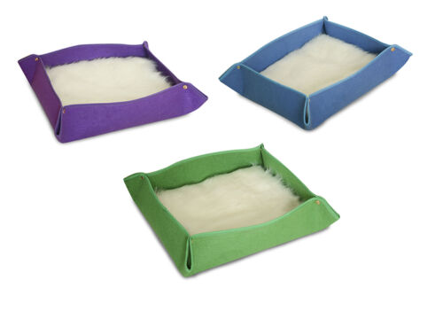Felt Cat Bed Dog Pet Bed with Pillow - Large