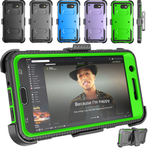 For Samsung Galaxy J7 2017/ J7 Sky Pro Hybrid Armor Case With Belt Clip Holster