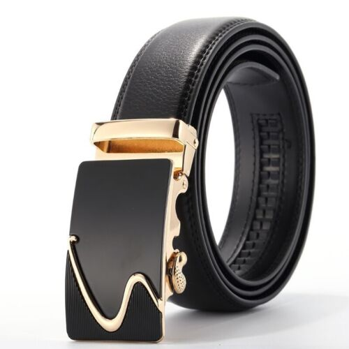 Brown Waist 2017 Mens Genuine Leather Automatic Buckle Waistband NEW Belt A0067