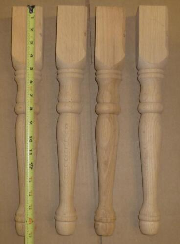 Table Legs Oak Wood  Unfinished 17 1/4 x 2 1/4 set of 4