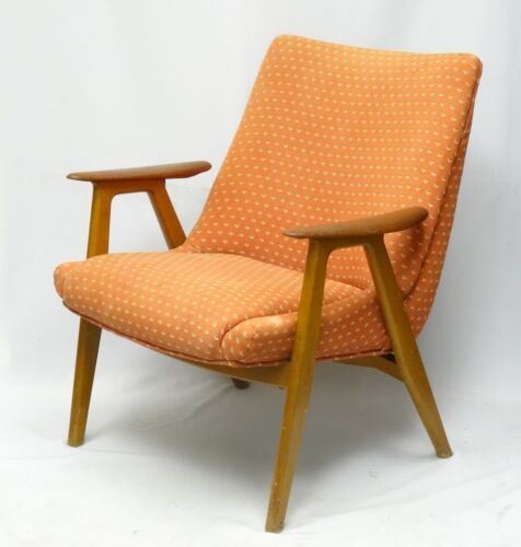 RARE 1954 TEAK RADSTAD and RELLING BAMBI GUSTAV BAHUS NORWAY LOUNGE CHAIR