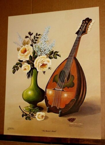The Master's Hand by Neal Holland Madolin Roses Music Antique