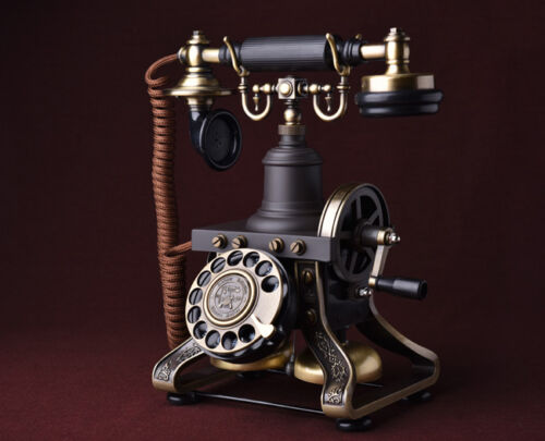 Antique Telephone 1892 Model French Vintage Rotary Dial style