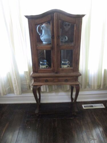 Late 1800's Primitive Curio or Apothecary Cabinet