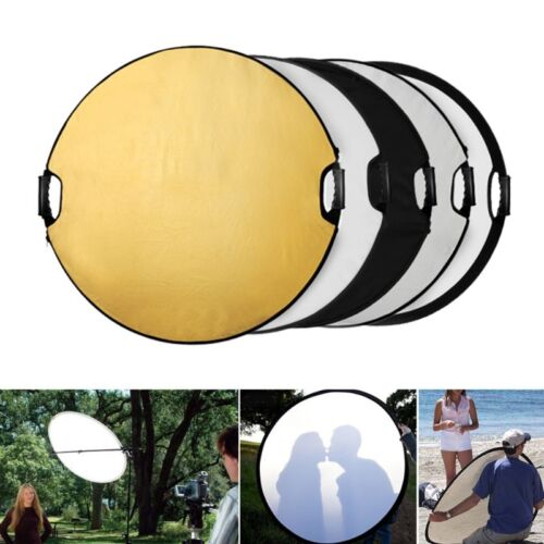 """110cm Photography Studio Multi Photo Disc Collapsible Light Reflector 43"""" 5 in 1"""