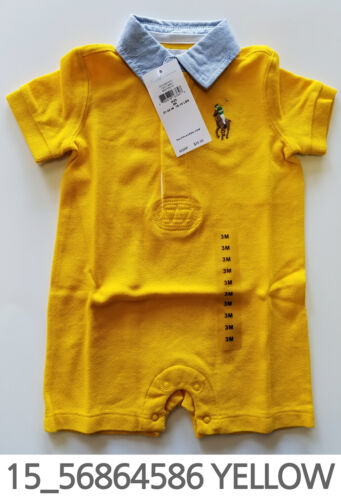 Polo Ralph Lauren Baby Toddler Clothing Romper 3/6 Months New w/ Tag #15