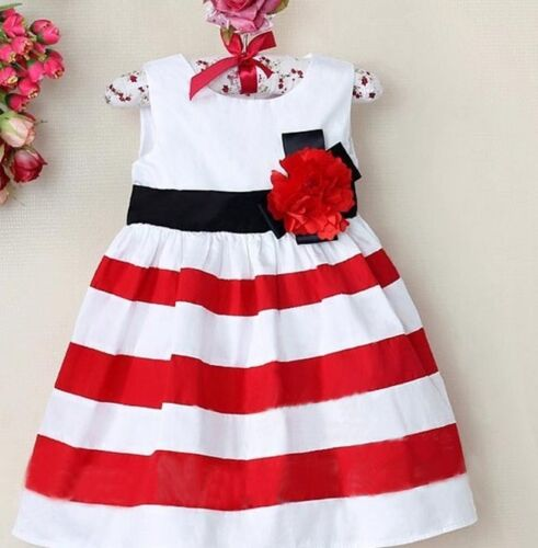 Baby Girls Kids Sleeveless Summer Dress Party Dresses Outfit Clothes Sundress