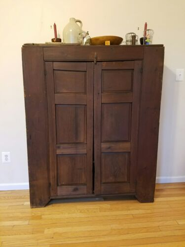 Antique Jelly Cupboard, Primitive Storage Cabinet,Primitive Jelly Cabinet