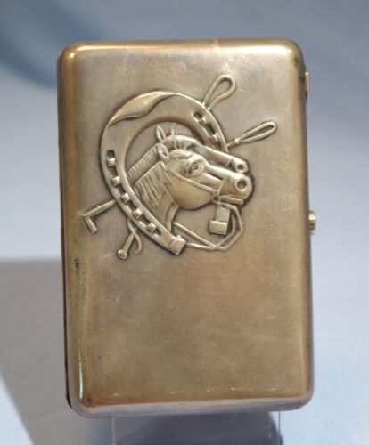 Antique Russian 840 Silver Cigarette Case Gilt Silver Interior Circa 1900