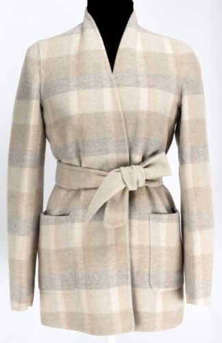 Max Mara Mosa Double Faced Wool Angora Handmade Belted Slim Jacket Msrp $2350