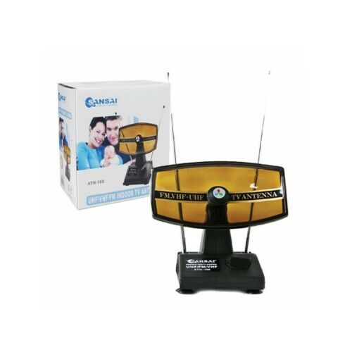VHF UHF FM Indoor TV Antenna Fully Adjustable telescopic Rods
