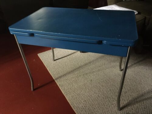 Mid Century Steel Table from the Howell Company out of St Charles, Illinois