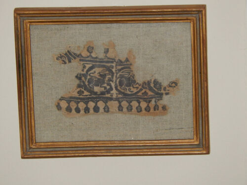 Ancient Egyptian coptic textile Pictorial fragment