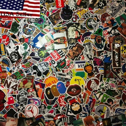 200 Skateboard Stickers bomb Vinyl Laptop Luggage Decals Dope Sticker lot cool <br/> USA Seller, #1 Best Quality, Odorless !!No Repeated PCS