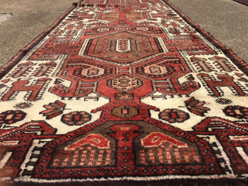 3x10 HAND KNOTTED PERSIAN IRAN HERIZ RUG RUNNER ANTIQUE WOVEN 3 x 10 wool 2 9 11
