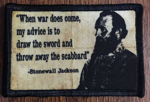 Civil War Stonewall Jackson Morale Patch Tactical Military Army Badge Hook FlagArmy - 48824