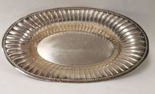Antique .800 German Silver Oval Fluted Bowl