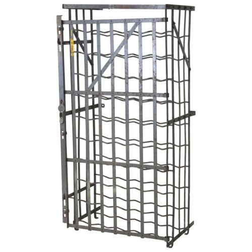 Industrial French 50 Bottle Locking Wine Rack Cage, circa 1930