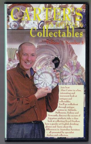 Carter's Antiques and Collectables: Volume 1, Number 3  - VHS -  1999,  RARE