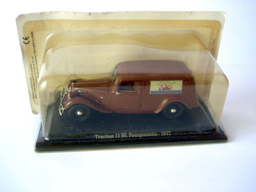 VOITURE MINIATURE CITROEN TRACTION 11 BL FOURGONNETTE 1937 - NOREV - 1/43