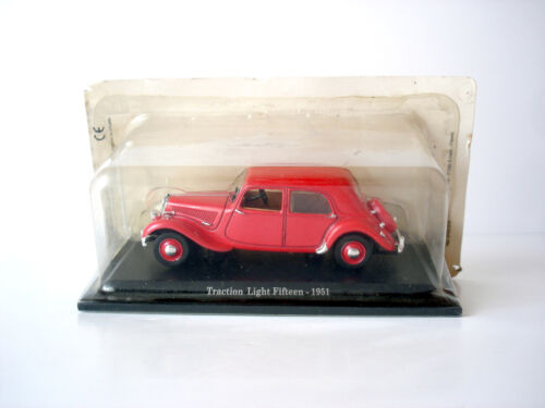 VOITURE MINIATURE CITROEN TRACTION LIGHT FIFTEEN 1951 - NOREV - 1/43
