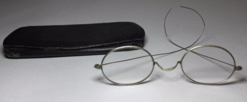 Antique kids Eye Glasses With Case