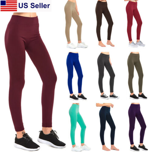 New Fleece Lined Seamless Leggings Winter Thick Stretch Women Seemless (XS~2XL)