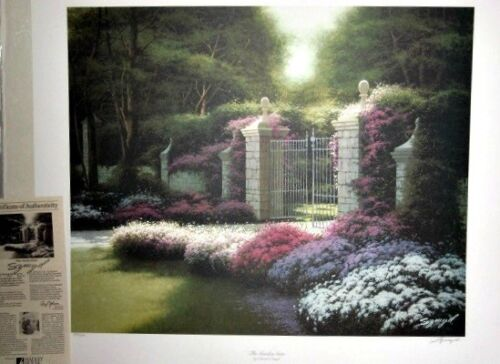 The Garden Gate by Edward Szmyd (with C of Authenticity)