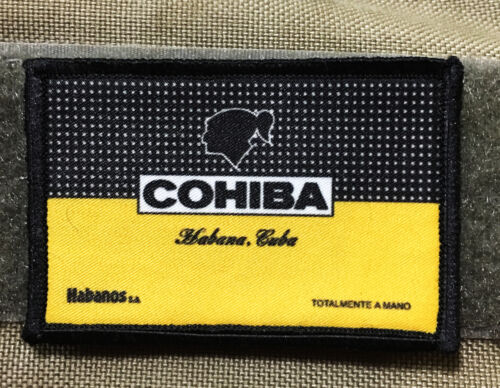 Cohiba Cigar Label Morale Patch Tactical ARMY Hook Military USA Badge FlagArmy - 48824