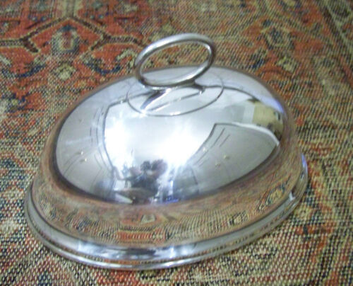 VICTORIAN GEORGIAN SILVER SHEFFIELD STYLE DOME ROAST or PLATTER COVER